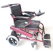 互邦铝合金电动轮椅 HBLD1-A锂电 后轮12寸 折叠